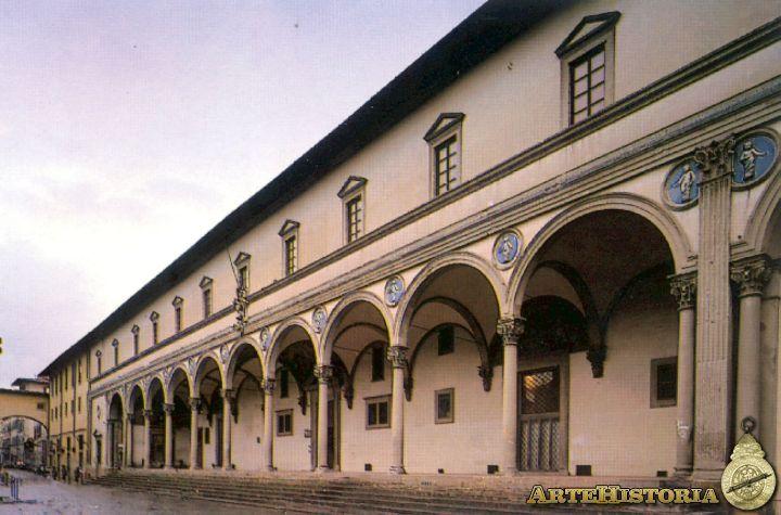 Durante el S. XV se creó un modelo  de tipología hospitalaria de gran difusión en Europa, el hospital de planta de cruz griega, ideado POR IL FILARETE y que subsistió hasta el siglo XVIII. Permitía una cierta clasificación de los enfermos. EL HOSPITAL (HOSPICIO) DE LOS INOCENTES DE FLORENCIA, BRUNELLESCHI proyectó el edificio y dirigió las obras  entre 1419 y 1427, en este último año, Francesco della Luna  construyó el segundo piso.