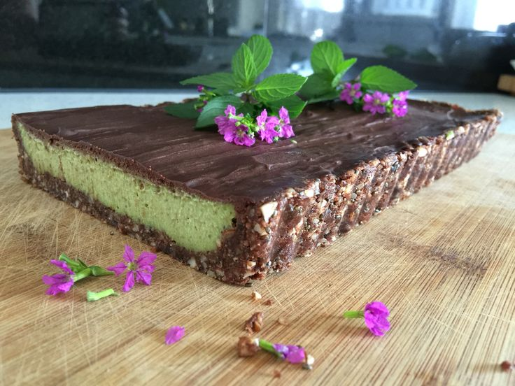 Raw Chocolate Peppermint Tart