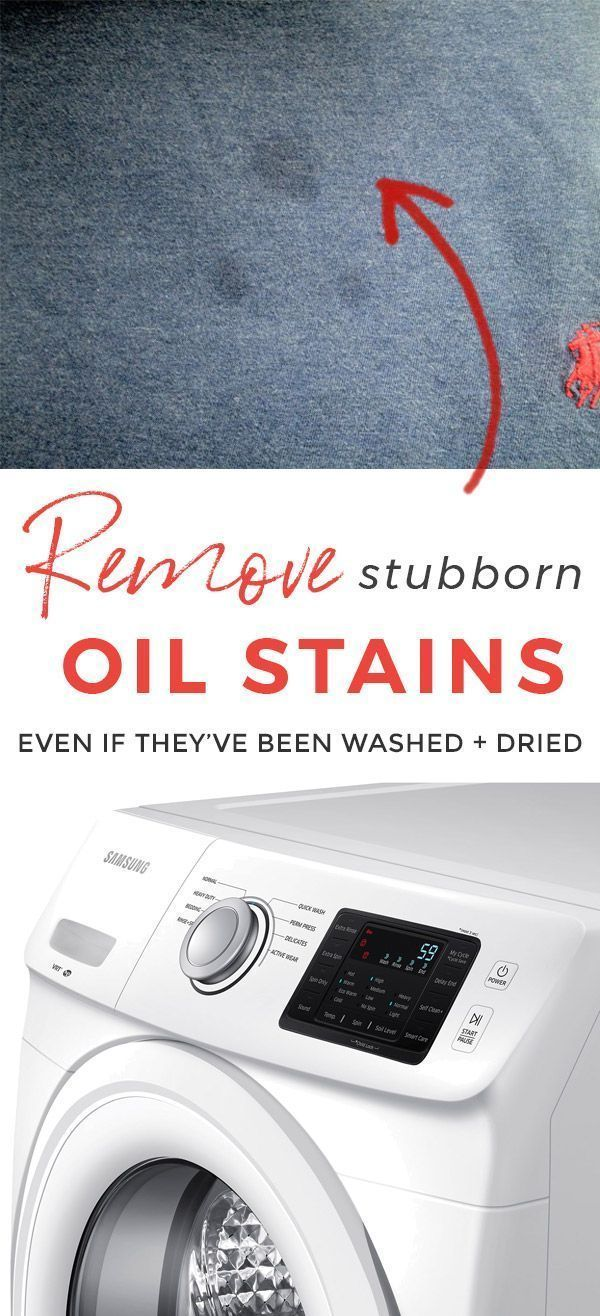 How to Get Oil Stains Out from Clothes This oil st…
