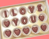 Boyfriend Gift Anniversary Valentines Gift for Him Man Her Woman Cool Romantic Cute I Love You Custom Name Large Milk Chocolate Letters