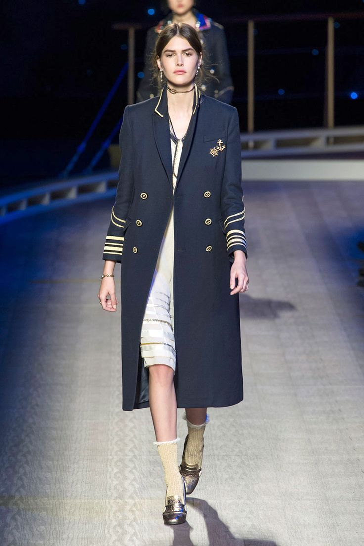 Fall 2016 FASHION TRENDS In the Navy Now If there's one coat designers can agree upon for fall, it's the naval inspired topper. From classic pea coats at Burberry to fun with patchwork at Tommy Hilfiger, we'll all be joining the navy next season.  Pictured: Tommy Hilfiger