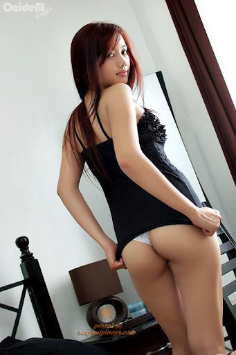 Excited young model nude
