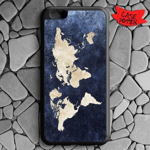 World Grunge Map iPhone 6 Plus iPhone 6S Plus Black Case