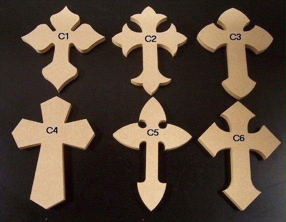 Unfinished Wood Crosses