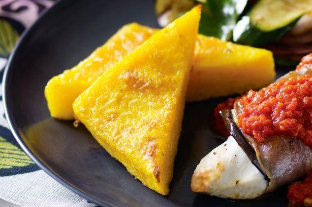 Baked parmesan polenta main image
