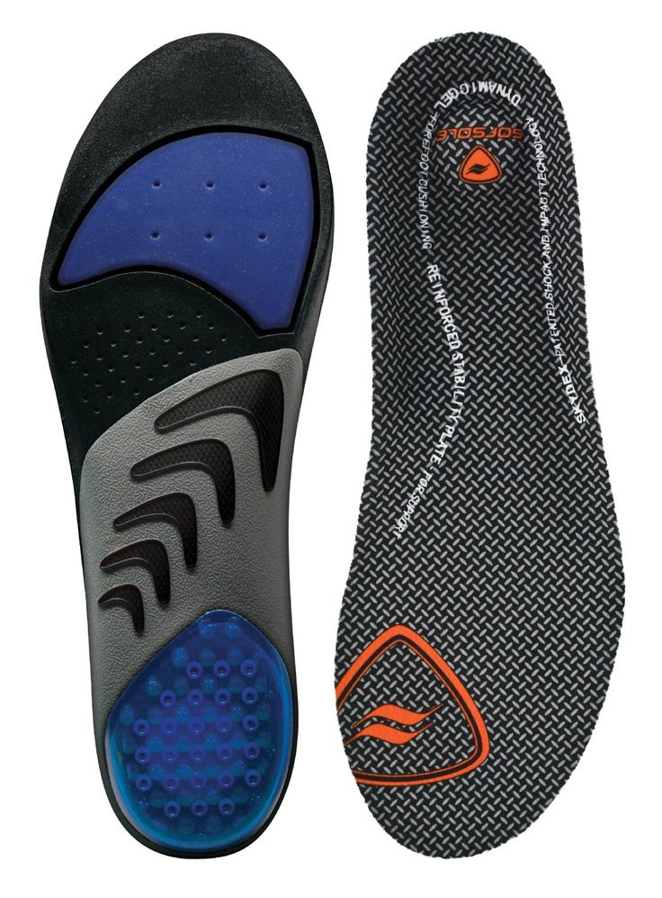 Sof Sole Airr Orthotic Full Arch/Heel Support & Cushioning Anti-Shock  Insoles for Men