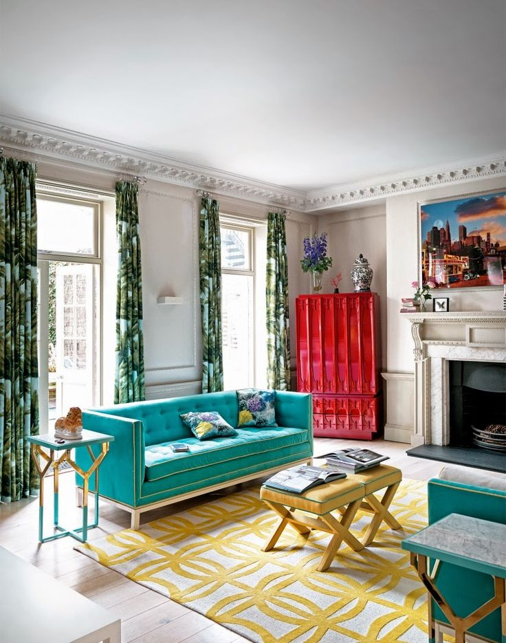 Need Living Room Ideas Take A Look At This White Modern With Bright Colourful Furniture For Decorating Inspiration Find More Bedroom Des