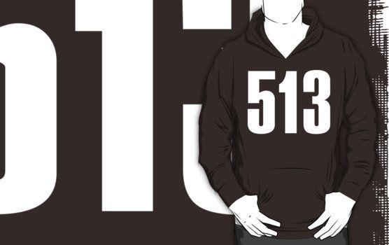 513 Cincinati [White Ink] | Phone Area Code Shirts Stickers by FreshThreadShop