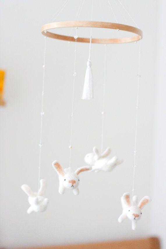 White nursery mobile by MistrSandman//