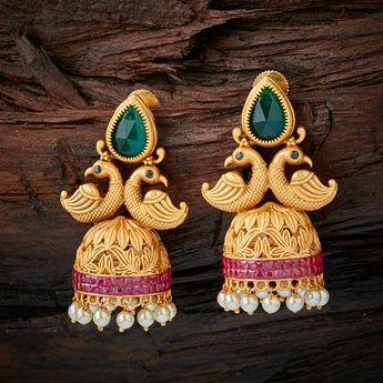 Green stoned earring   www.shopzters.com