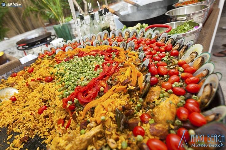 Paella At Nikki Beach Miami Sunday Brunch