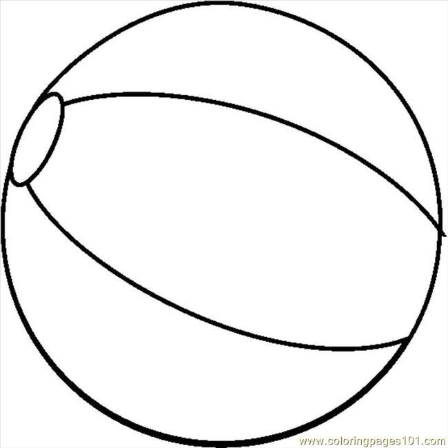 printable beach ball coloring pages - photo#20