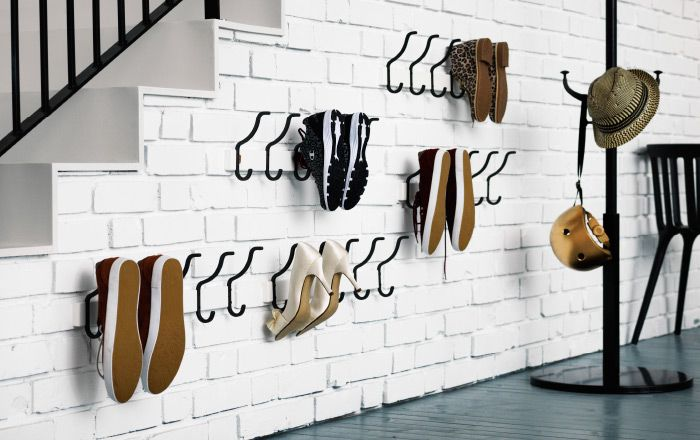 Mudroom Entryway Shoe storage hook solution - HJALMAREN towel rack - $19.99