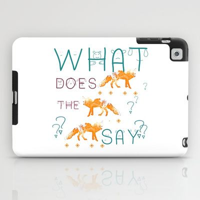 FOX  by NIKA and Monika Strigel iPad Case #fox #song #music #funny