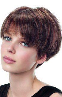 Kurze braune Haare