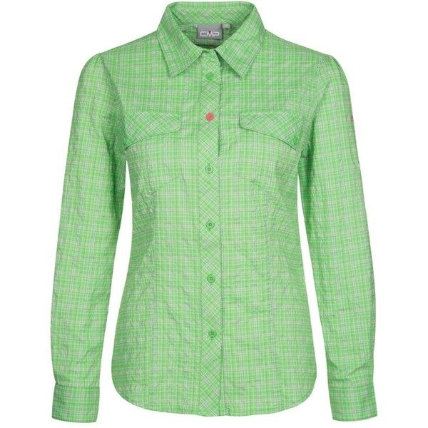 CMP Blouse pepper mint (3.900 RUB) ❤ liked on Polyvore featuring tops, blouses, green, sports tops, green blouse, mint blouse, mint green top and mint top