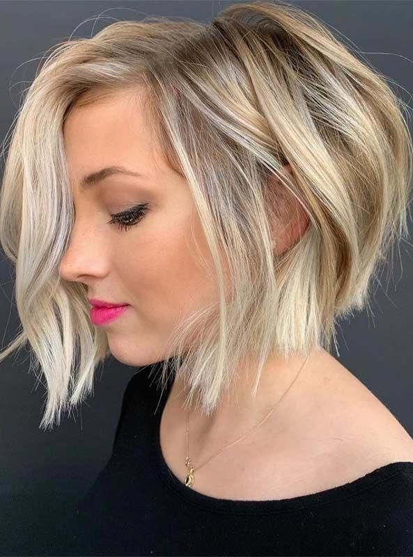 Best Styles Of Short Blonde Bob Haircuts to Try in This Year #bobhaircut