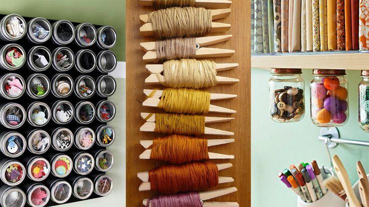 rangement bocal couvercle vissé | DIY & Crafts : organiser un espace atelier chez soi - Loisirs ...