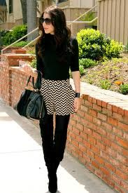 Chic chevron shorts... love them over leggings
