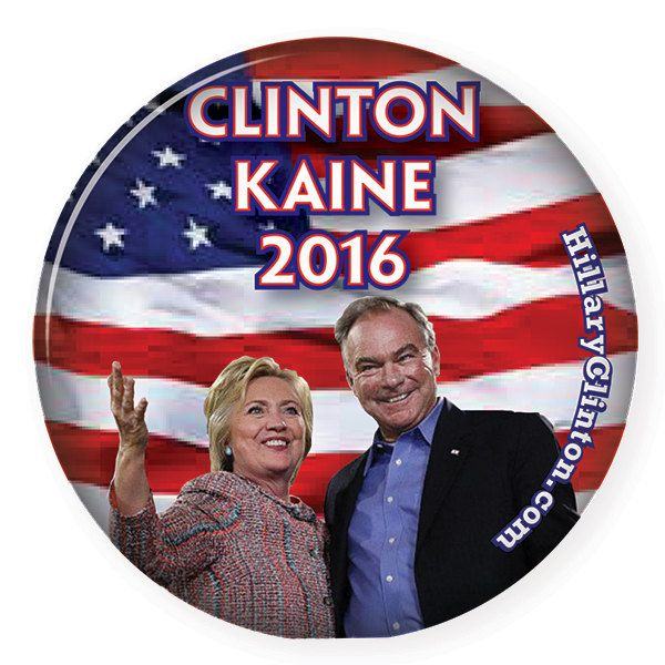 "500 HILLARY CLINTON & Tim KAINE 3"" Campaign Pin Back Buttons Presidential Candidate 2016 Free Shipping by Badgelady117 on Etsy"