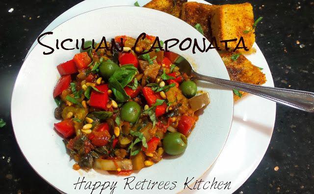 Happy Retiree's Kitchen: Caponata, a Sicilian Eggplant Stew #eggplant #mediterranean #sicilianfood