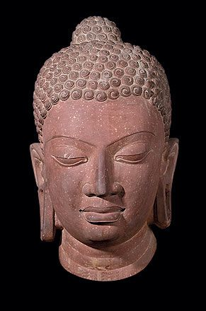 This statue depicting the head of Buddha was created during the reign of the Gupta Empire. The Gupta dynasty marked great advancements in the arts because of the peace and prosperity experienced during this period.