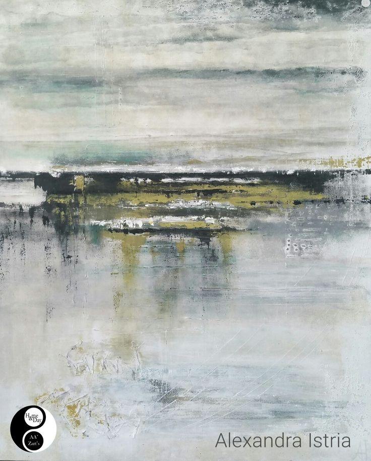 """Marine abstraite"" Alexandra Istria 100x80 en Expo AA'Zart'S #peinture #abstract #marine"
