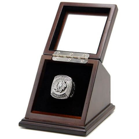 NHL 2015 Chicago Blackhawks Stanley Cup Championship Replica Fan Toews Ring with Wooden Display Case, ONLY $71.99
