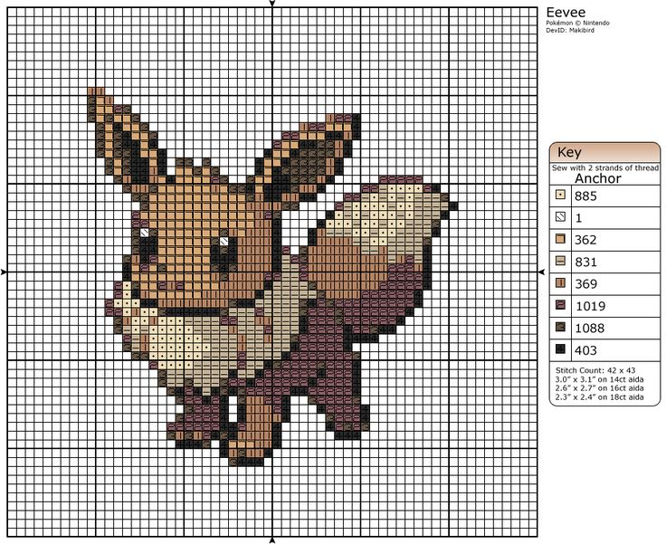 133 - Eevee by Makibird-Stitching.deviantart.com on @deviantART