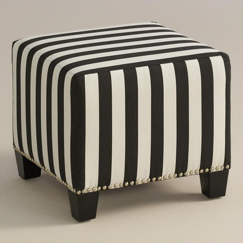 One of my favorite discoveries at WorldMarket.com: Canopy Stripe McKenzie Ottoman