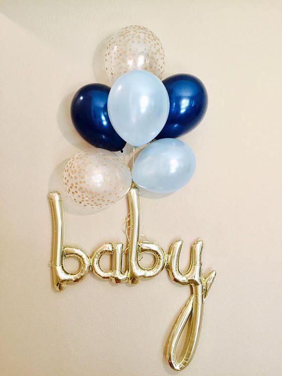 BABY Script Balloon Baby Boy Balloon Baby Boy Shower Baby