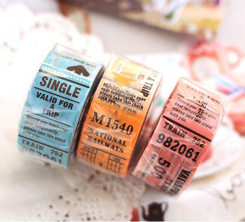 Trip tip ticket masking tape