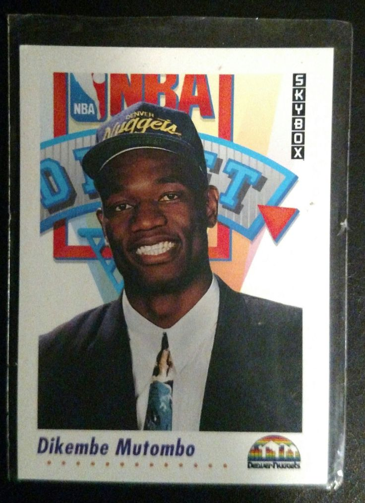 Vintage 1991-92 SkyBox #516 Dikembe Mutombo RC by NadyasVintageNook on Etsy