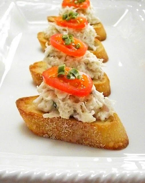 Crab Bruschetta. I could eat this everyday!