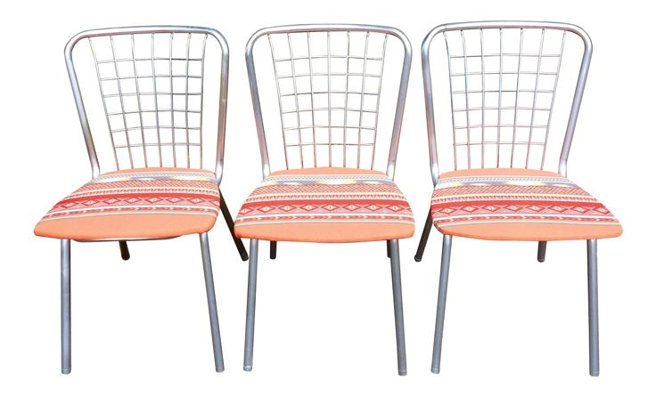Mid Century Reupholstered Indoor/Outdoor Chairs - Set of 3 on Chairish.com