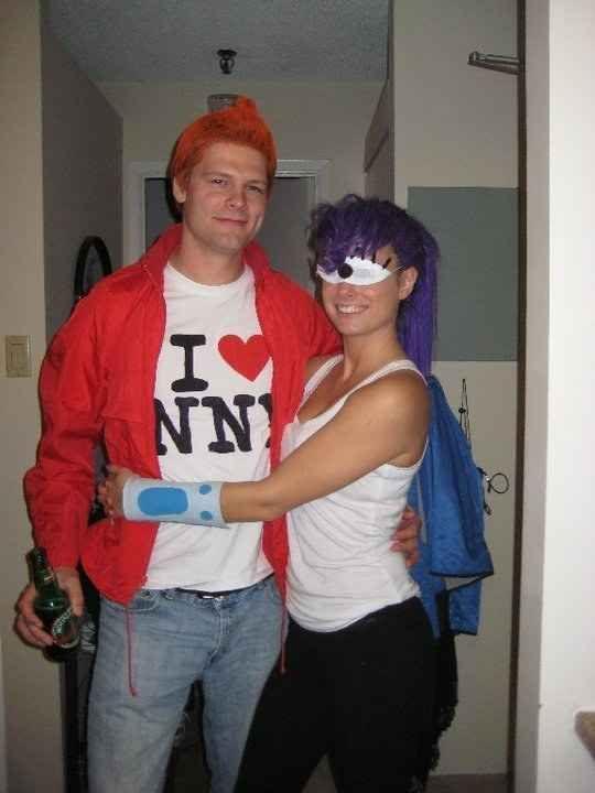 Fry and Leela from Futurama