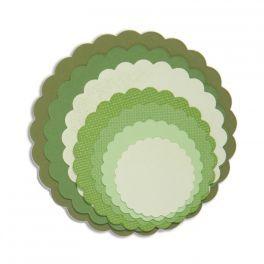 Framelits 8 Schablonen Scallop Kreis