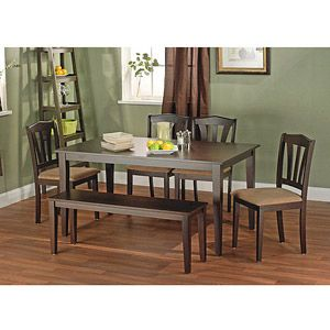 6piece dining set with bench walmartcom