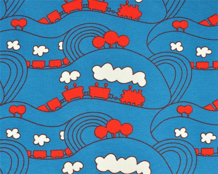 Ohlsson's Fabrics - Children Fabrics, elastic - Knitted Train