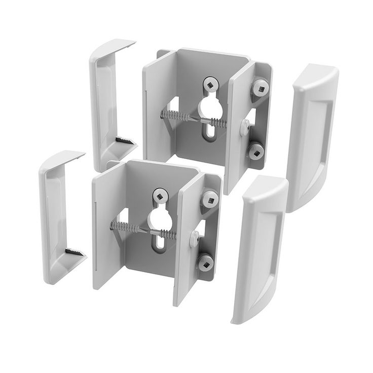 Freedom Set&Secure 2-Pack White Vinyl Fence Brackets