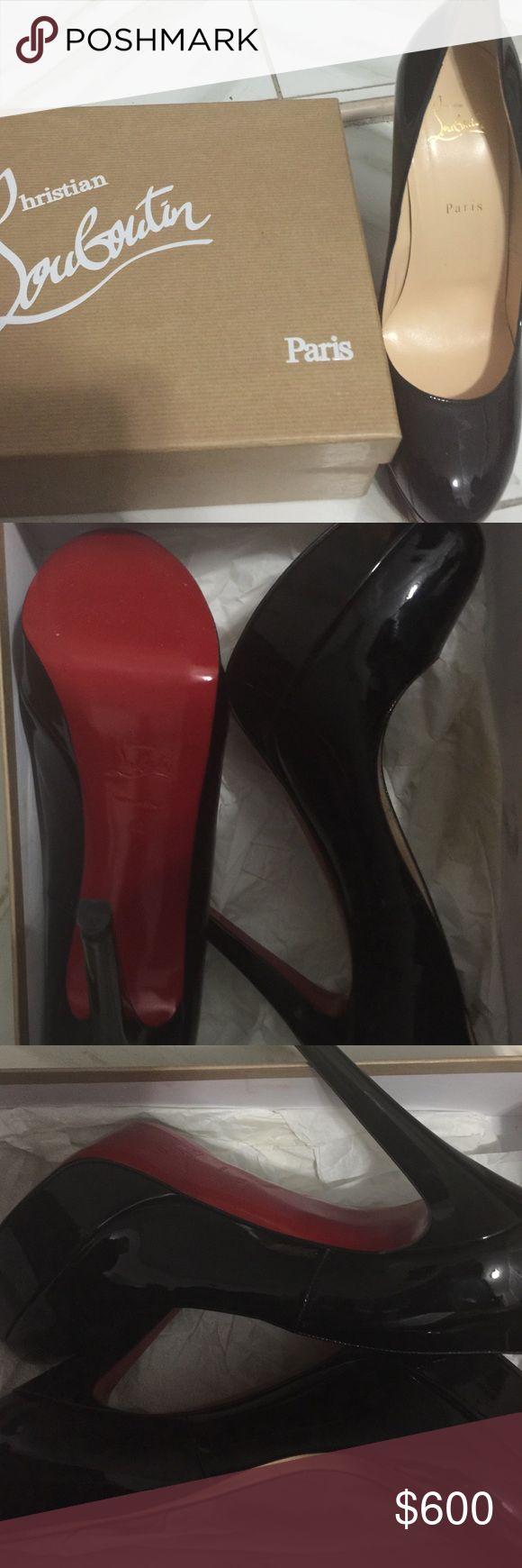 Classic black Christian louboutins Classic sleek black Louboutins, only worn once, size 42(12) Christian Louboutin Shoes Platforms