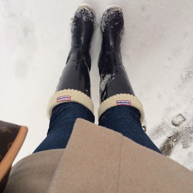 mrsnauticalbelle:  The best snow boots. #hunterboots #kpkdonyc #flannelsocksforthewin (at NYU Law School Library)