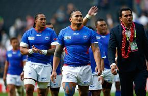 Alesana Tuilagi Photos Photos - Alesana Tuilagi of Samoa looks on after the 2015 Rugby World Cup Pool B match between Samoa and Japan at Stadium mk on October 3, 2015 in Milton Keynes, United Kingdom. - Samoa v Japan - Group B: Rugby World Cup 2015