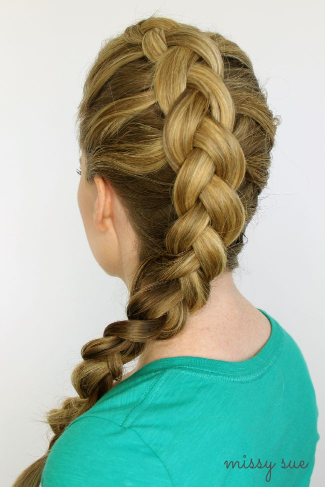 Double Fishtail French Braid Updo Hair Tutorials