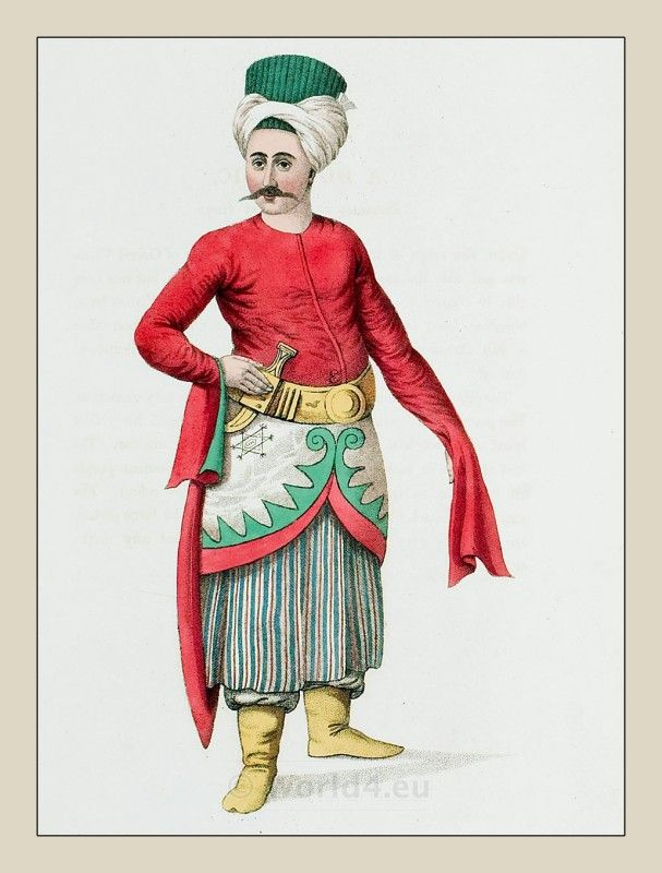 Ottoman Empire Costume in 1800. A DOMESTIC. BELONGING TO THE GRAND VIZIER.