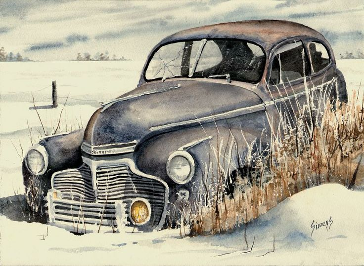 40 Chevy Painting by Sam Sidders - 40 Chevy Fine Art Prints and Posters for Sale