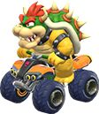 A sprite of #Bowser in his kart, from #MarioKart8  Mario Kart 8 Character guide @ http://www.superluigibros.com/mario-kart-8-racers-playable-characters