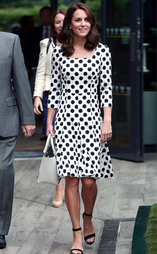 Kate Middleton from Wimbledon 2017: Star Sightings  The Duchess of Cambridge opted for a black and white ensemble on Day One of Wimbledon.