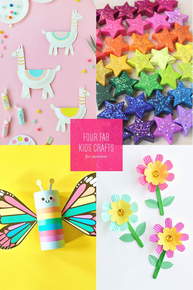 4 Fab Summer Paper Craft Ideas For Kids With Images Crafts
