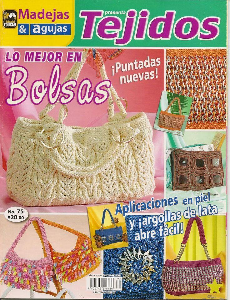 Revistas de crochet y tejidos gratis: como hacer bolsos con dos agujas